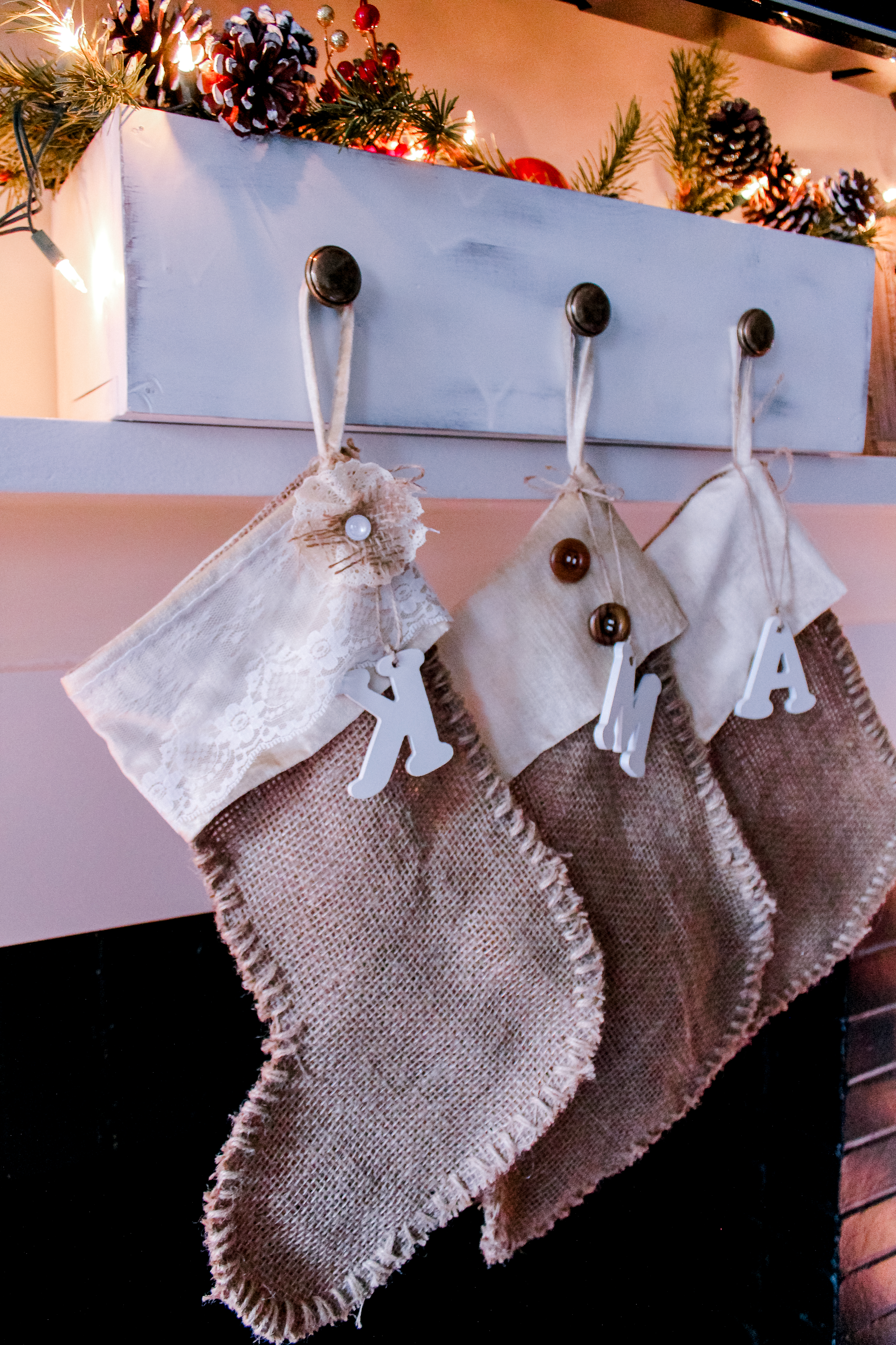 Diy Rustic Stockings Holder Tutorial If Only April