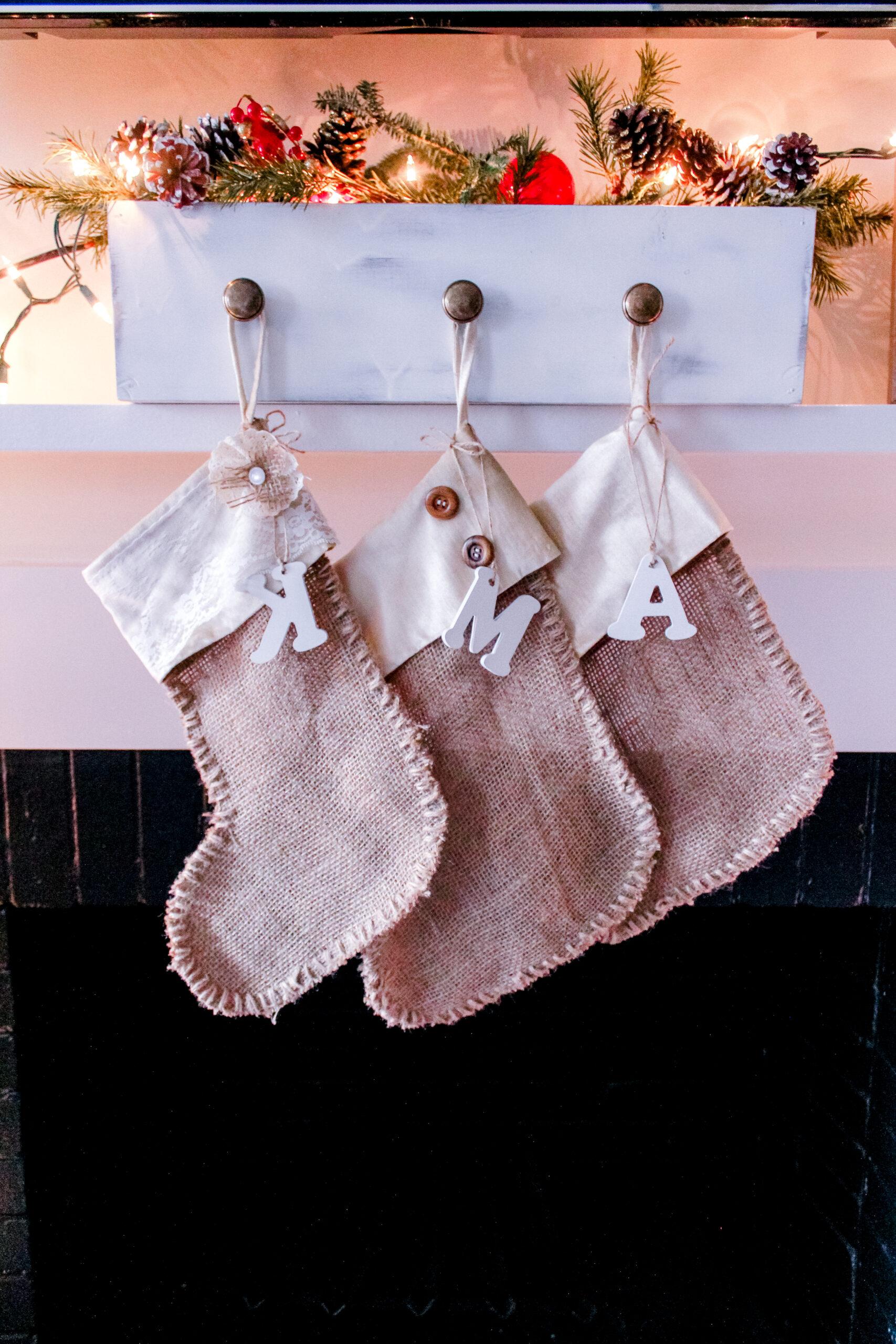 rustic no sew stockings