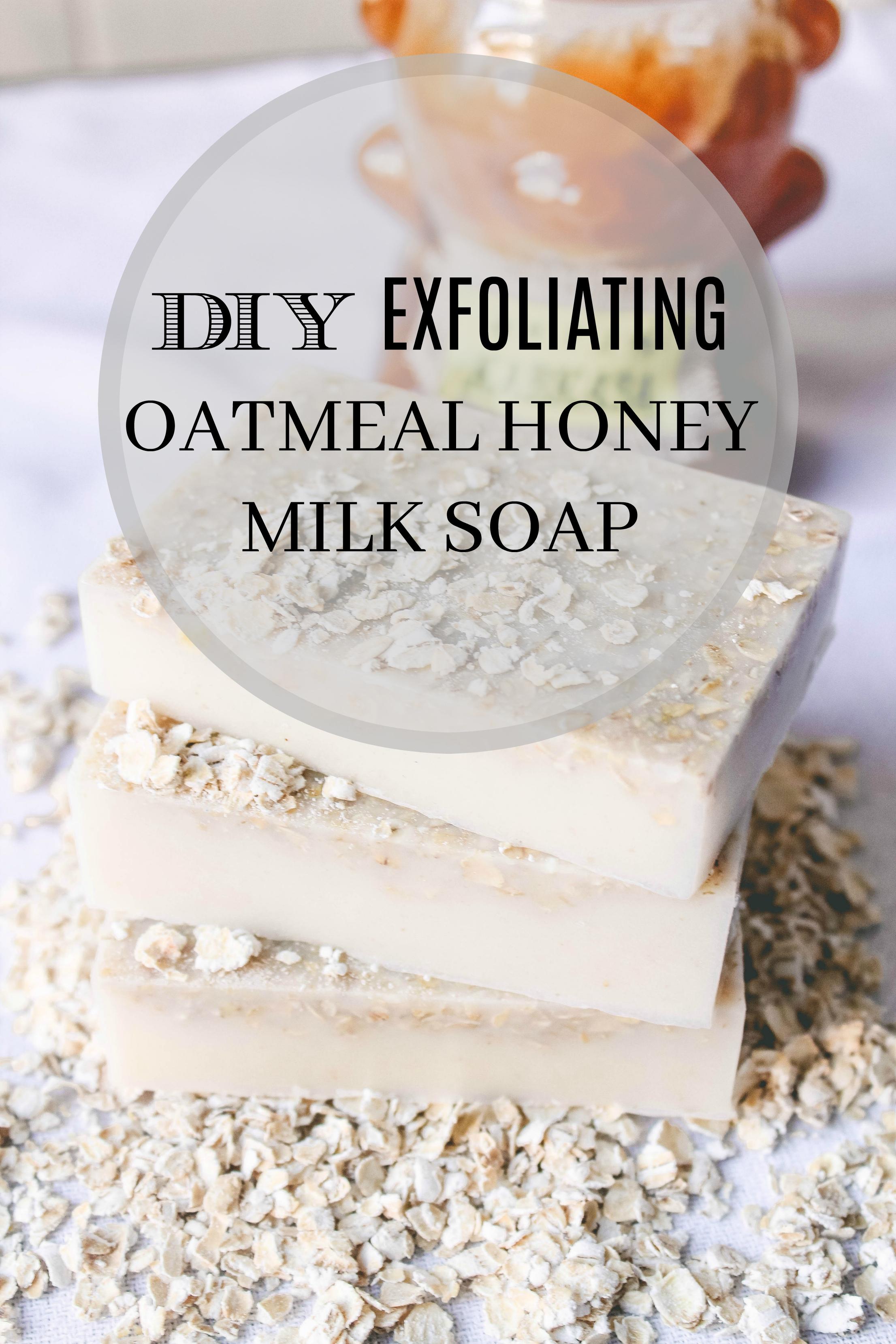 honey oatmeal diy soap