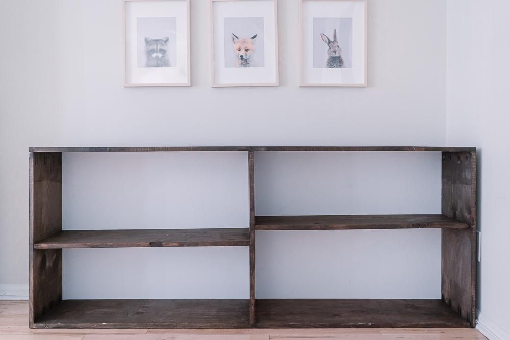 montessori inspired diy shelf for toys
