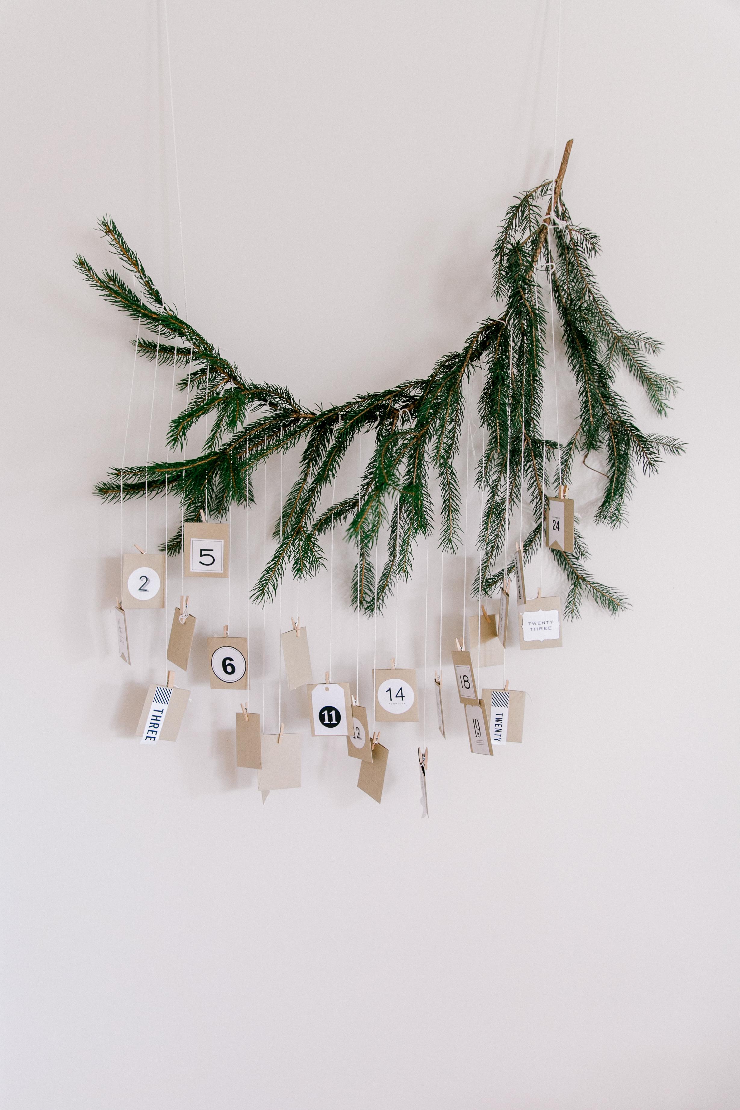 handmade natural advent calendar