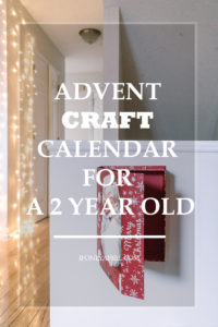 advent craft calendar 2 year old