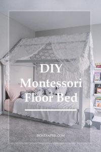 diy montessori floor toddler bed