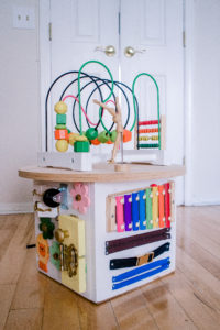 diy activity cube toddlers