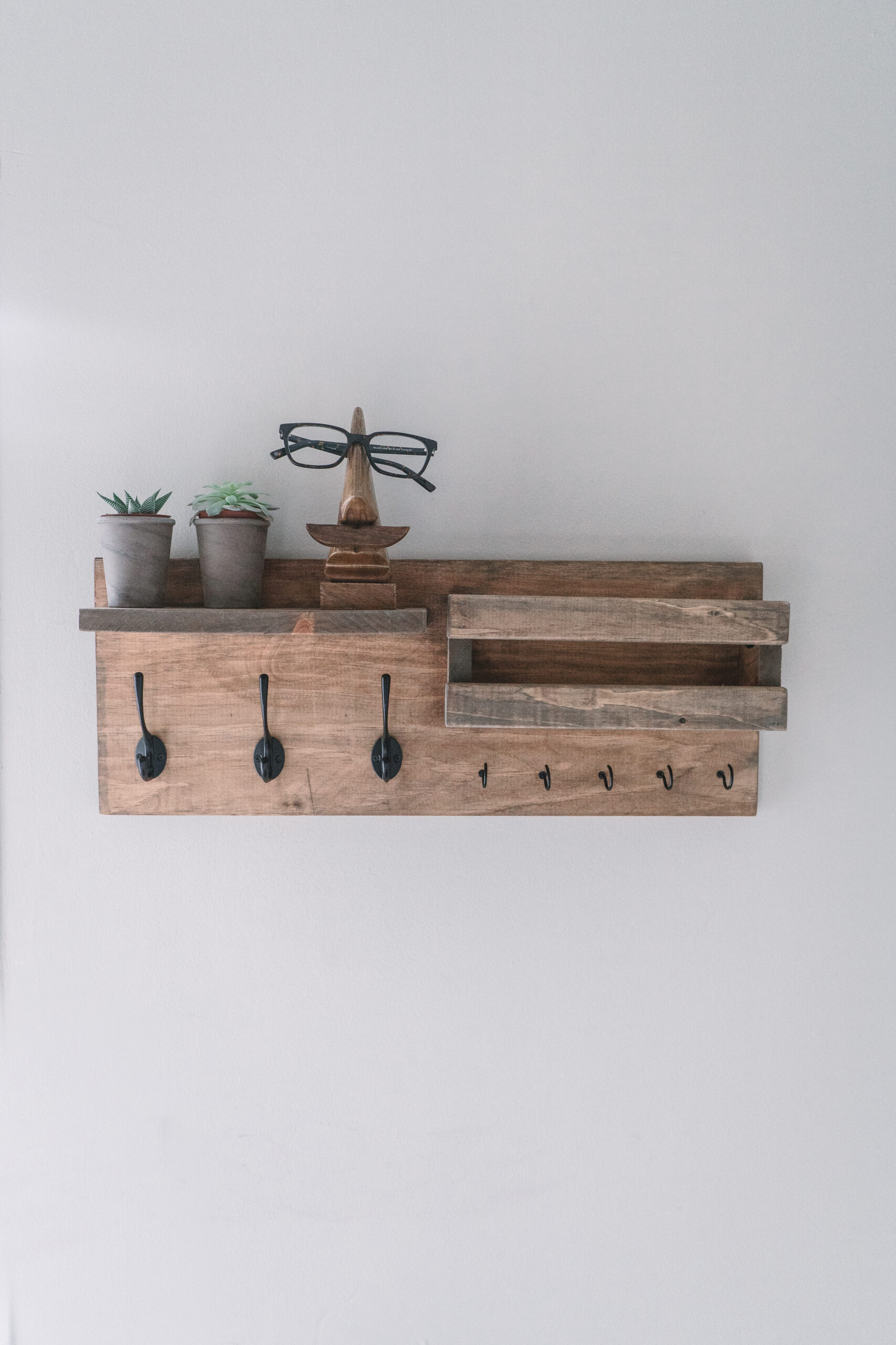 diy entryway organizer shelf