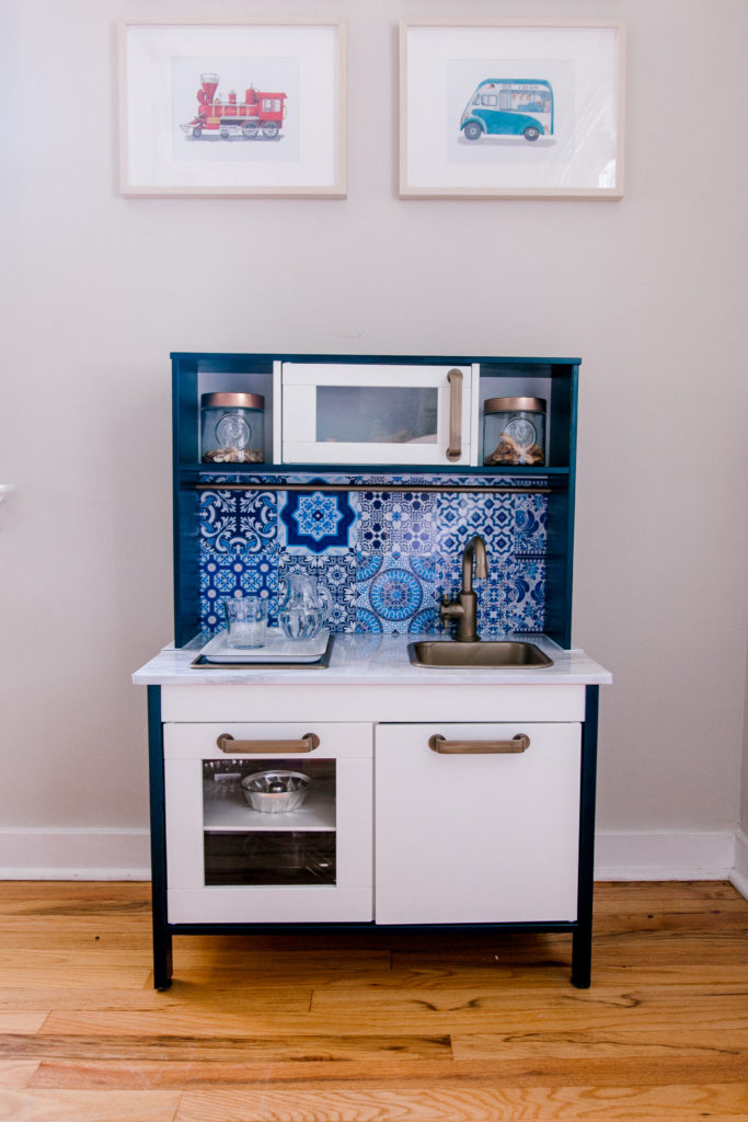 IKEA HACK: BLUE MODERN PLAY KITCHEN (INSPIRED BY MOROCCO
