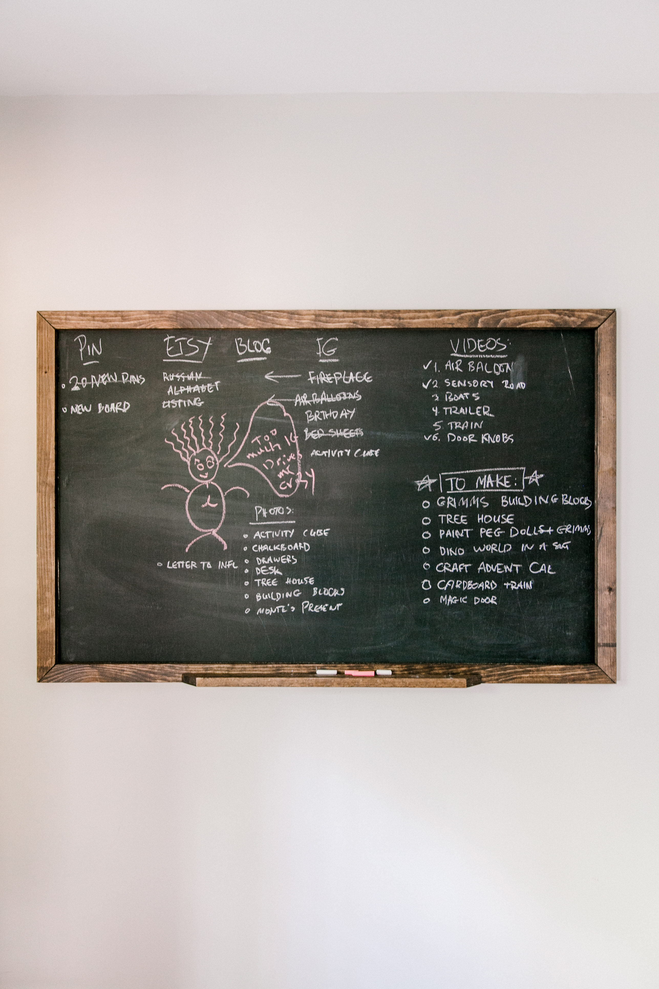 diy oversized chalk board