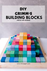 DIY BUILDING BLOCKS PYRAMID