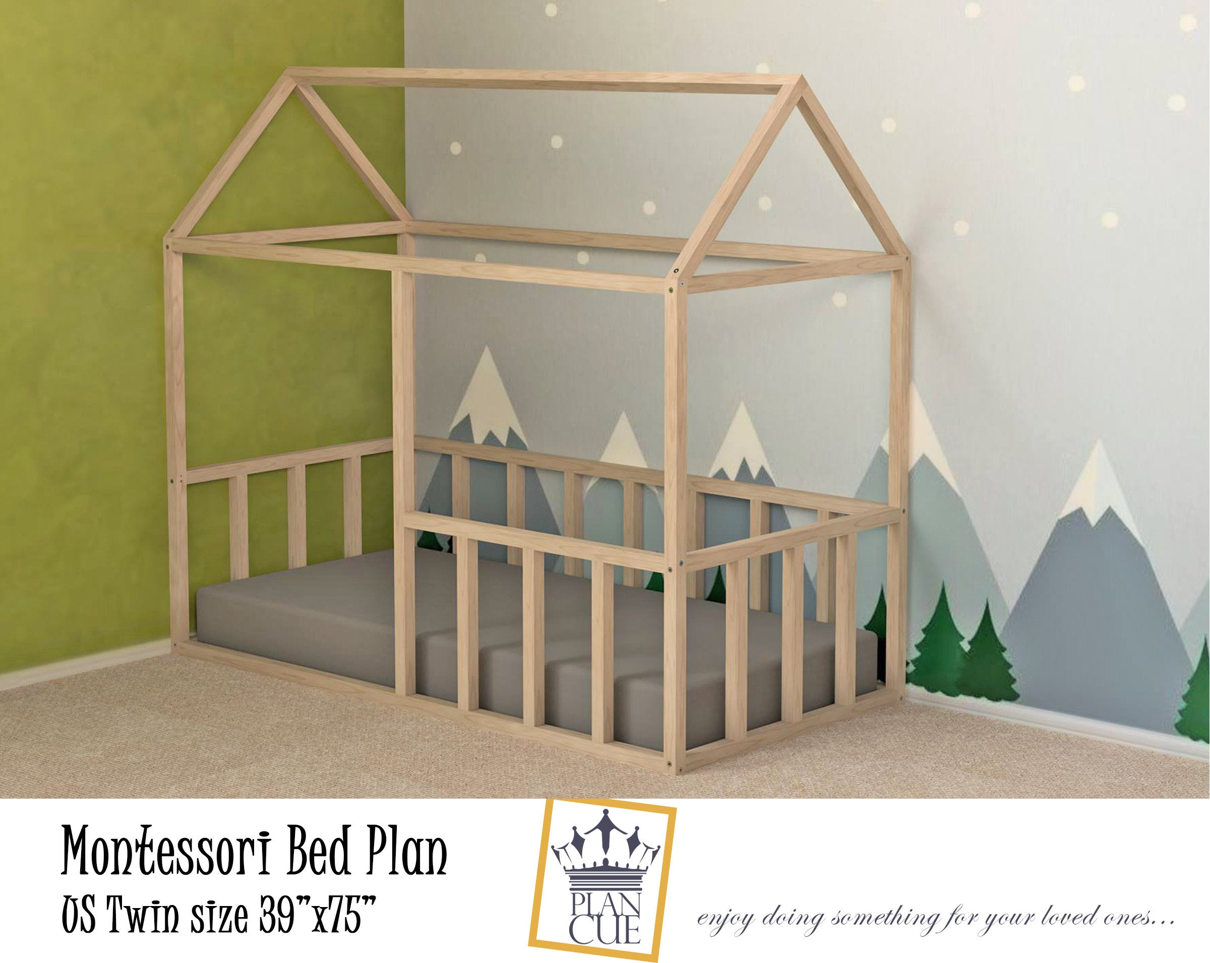10 Diy Montessori Floor House Beds Free Plans If Only April