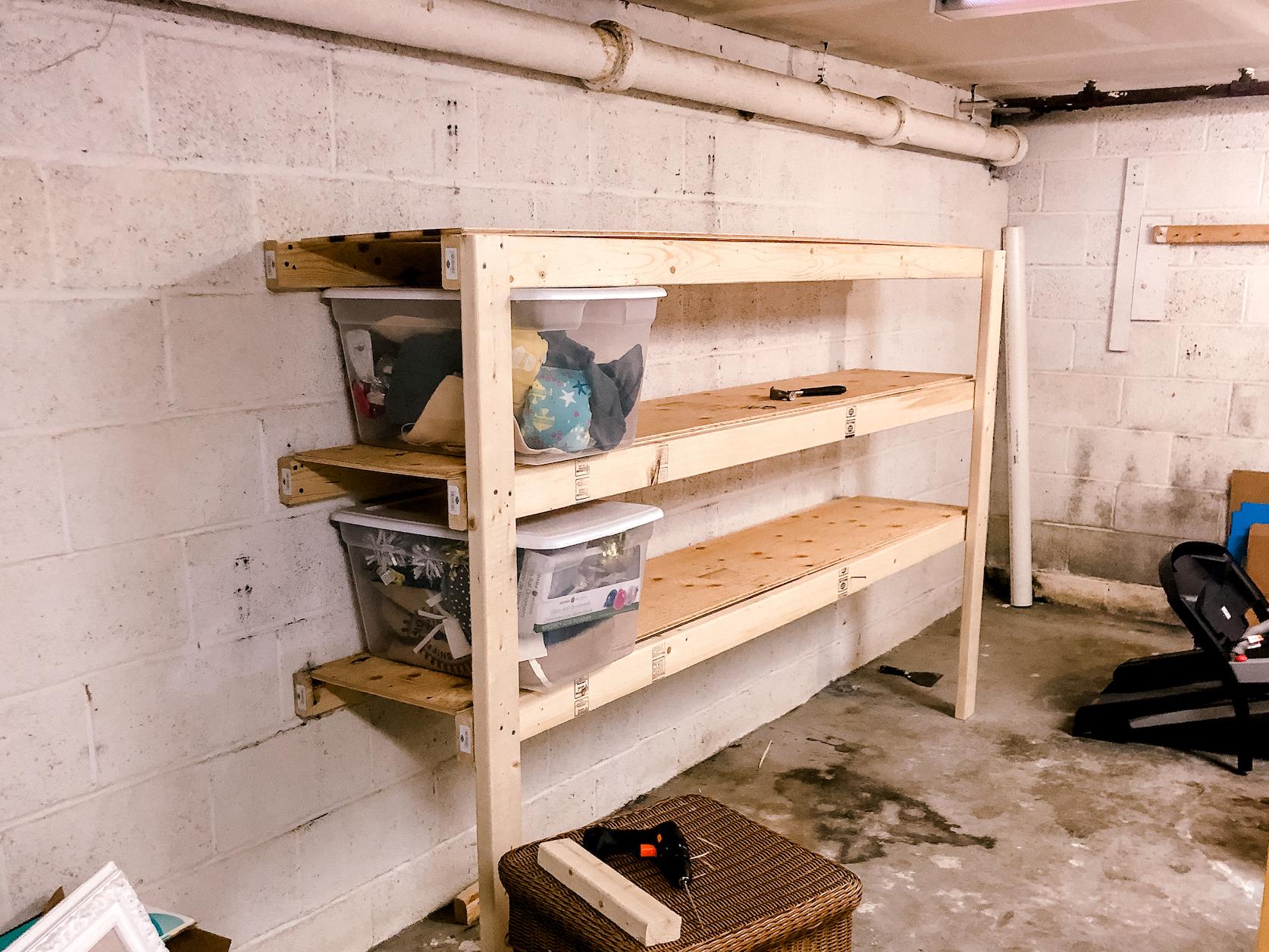 easy garage shelves