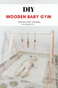 diy wooden baby gym and toys