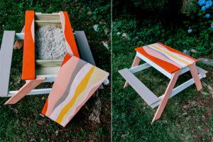 diy sandbox picnic table combo