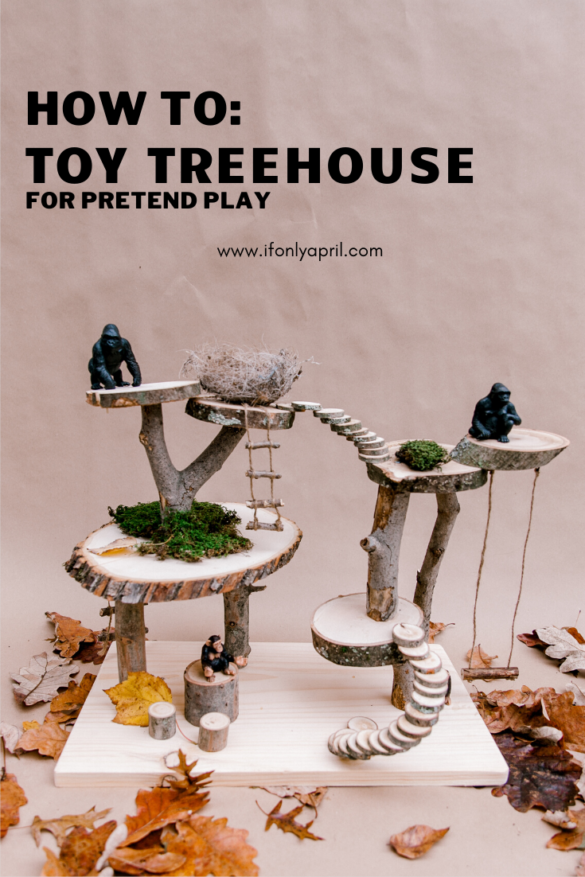 diy pretend play toy treehouse