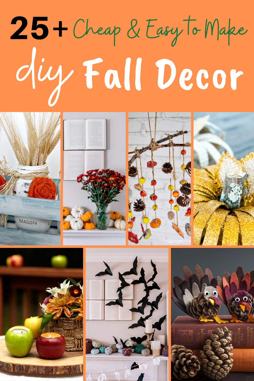 25+ cheap and easy to make diy fall decor