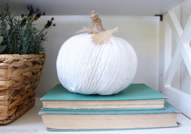 Adorable DIY Sweater Pumpkins