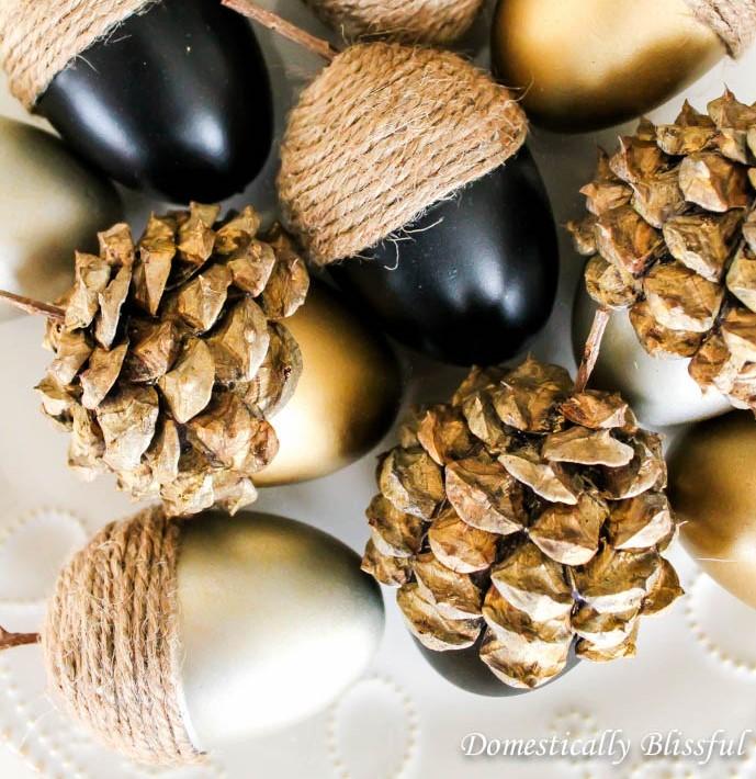 DIY Fall Acorns - from eggs to acorns