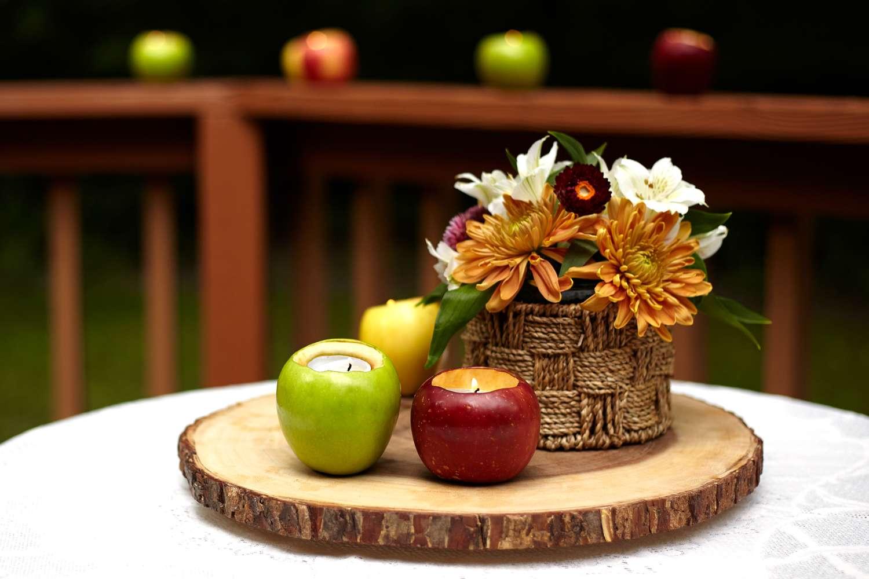 DIY Fresh Apple Tealight Candles