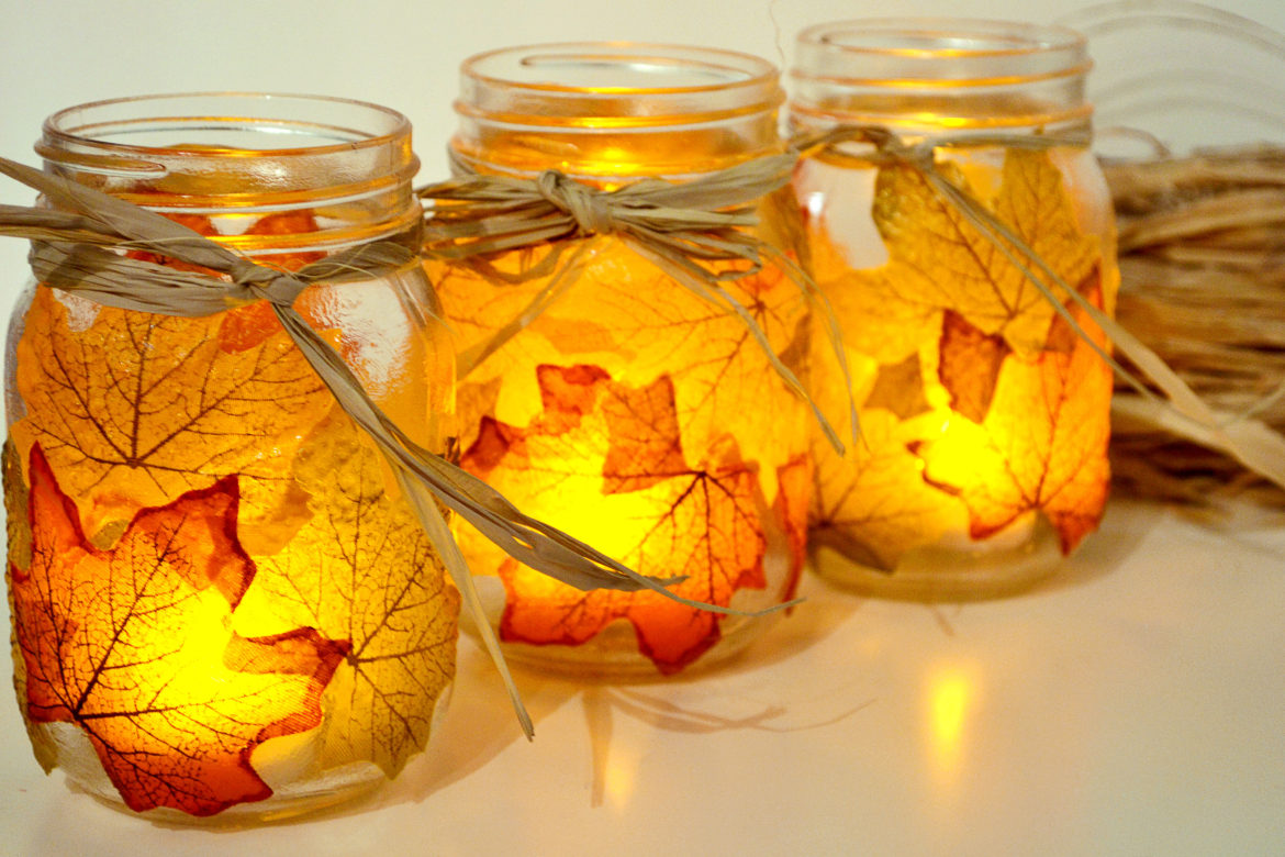 Easy DIY Fall Candle Holder