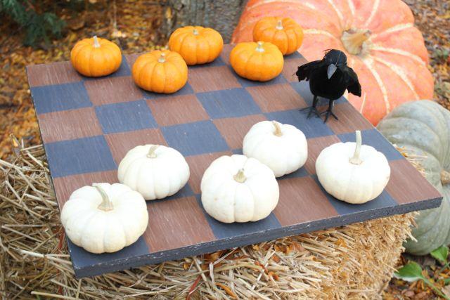 Easy DIY Pumpkin Checker Board Game