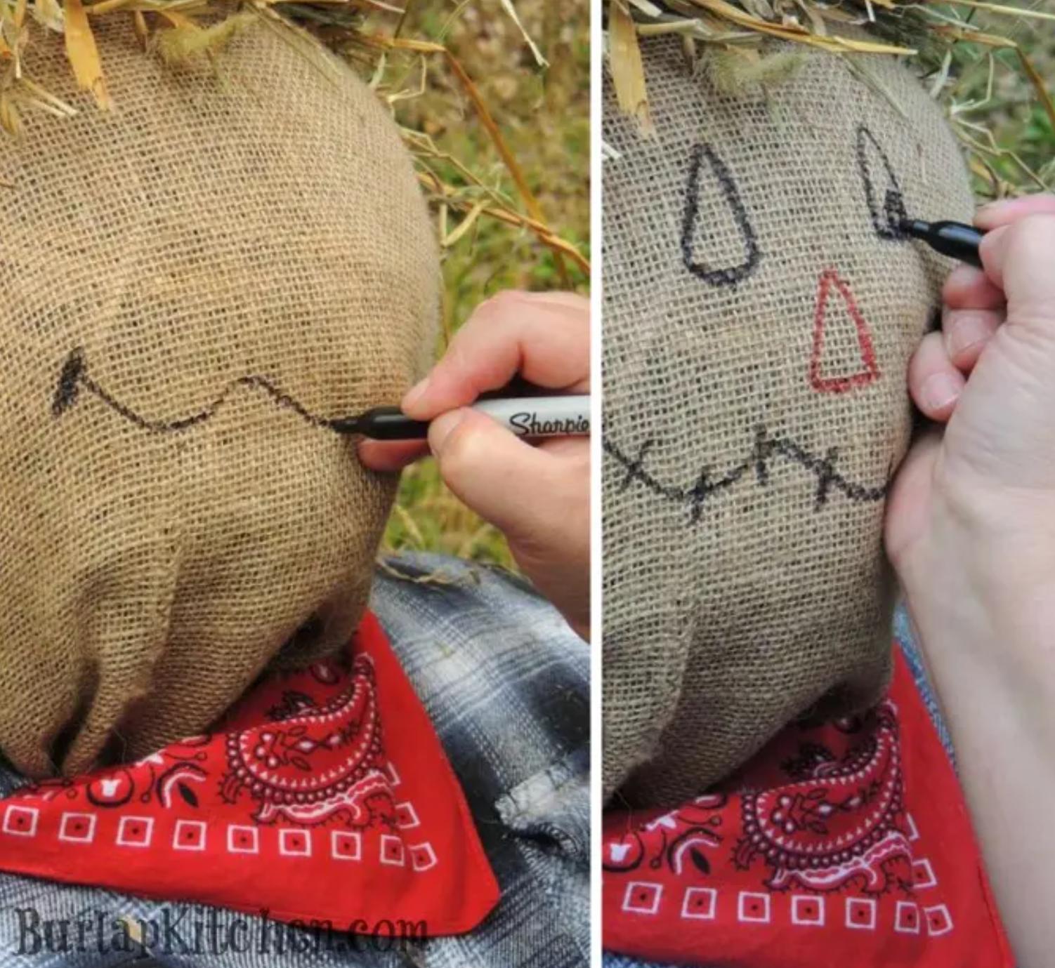 Fall DIY Scarecrow