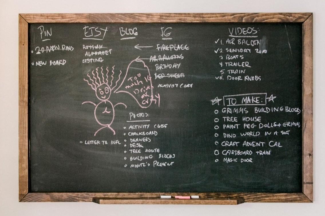 giant diy homeschool chalkboard