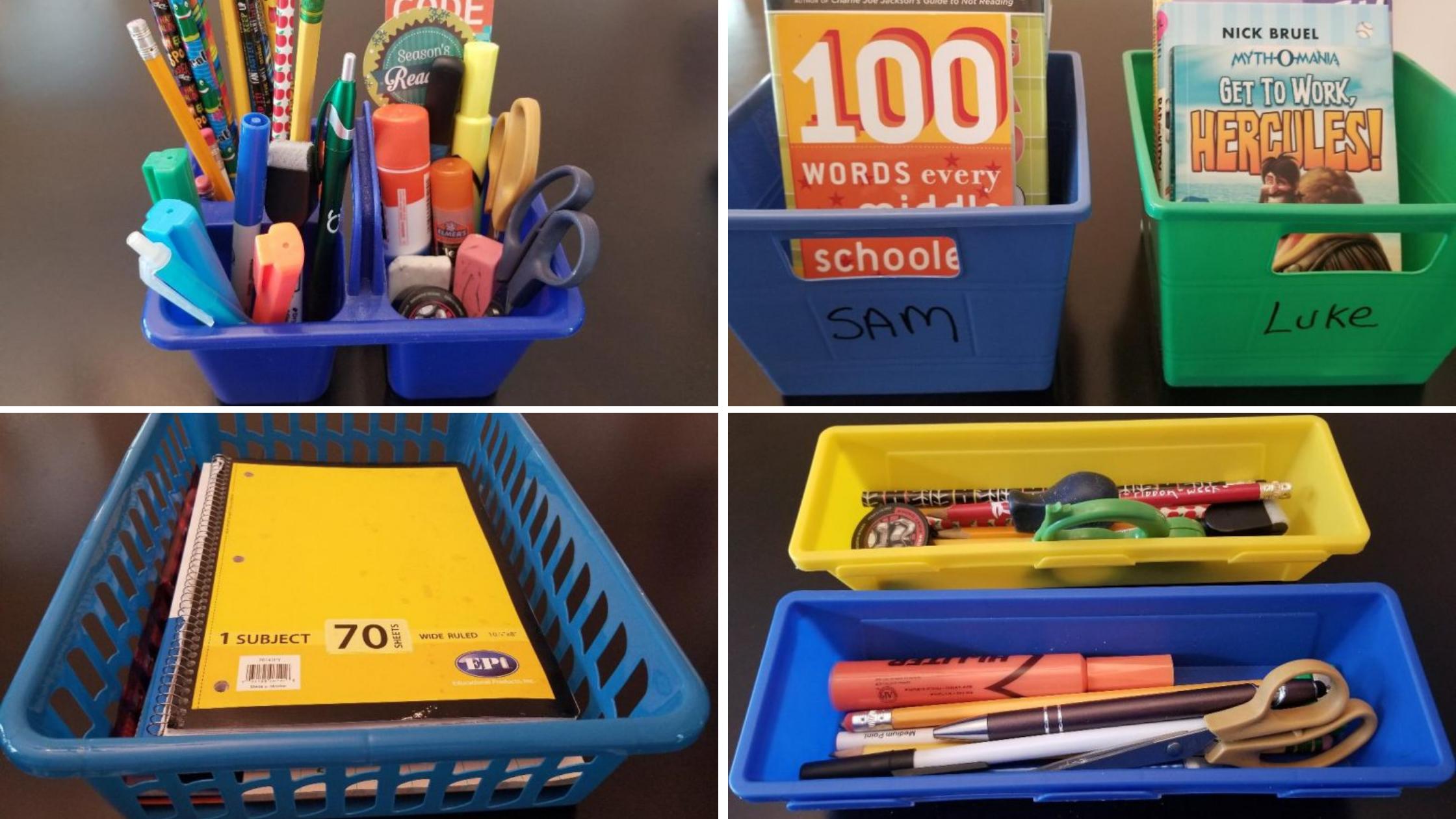 diy dollar store homeschool organization hacks