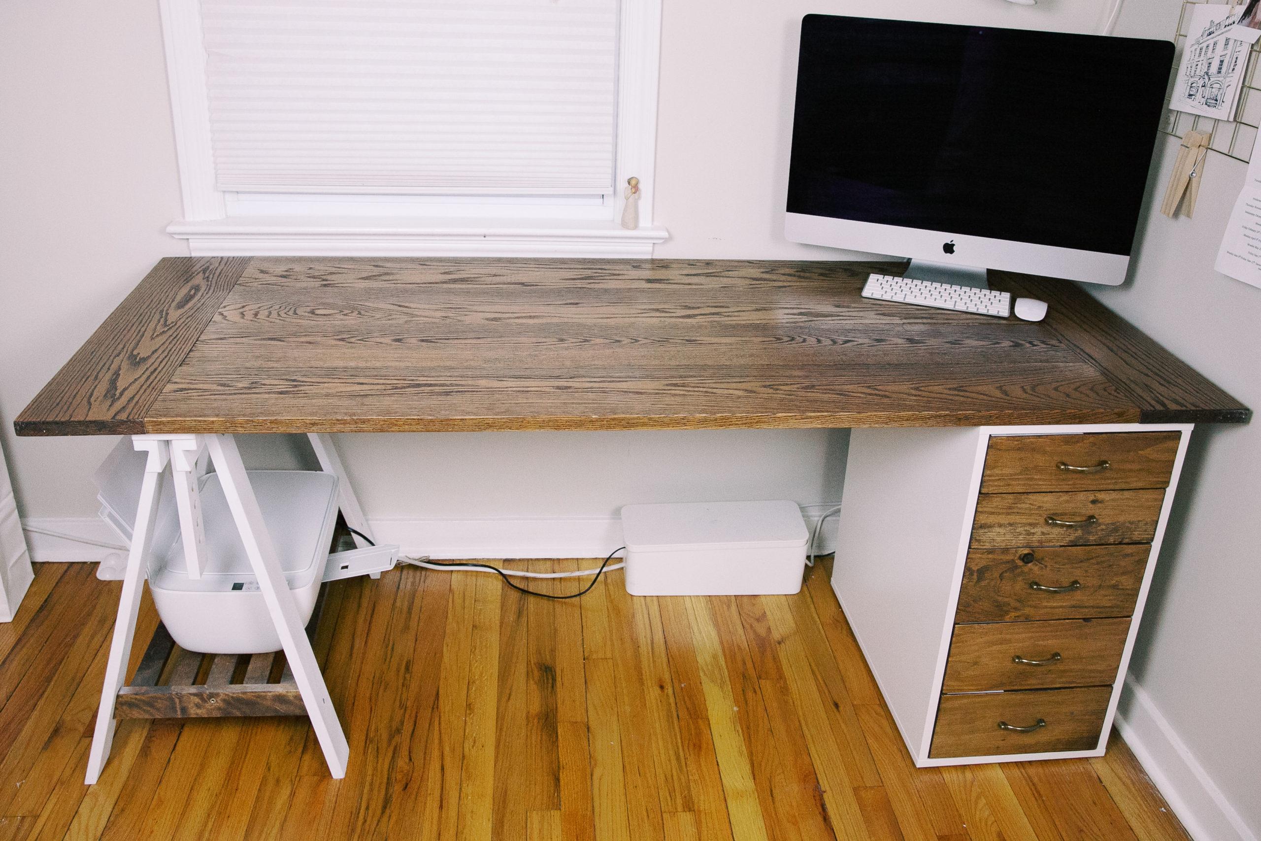easy diy homeschool desk
