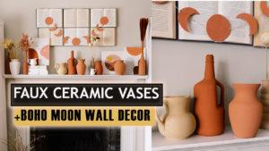 chalk paint vases