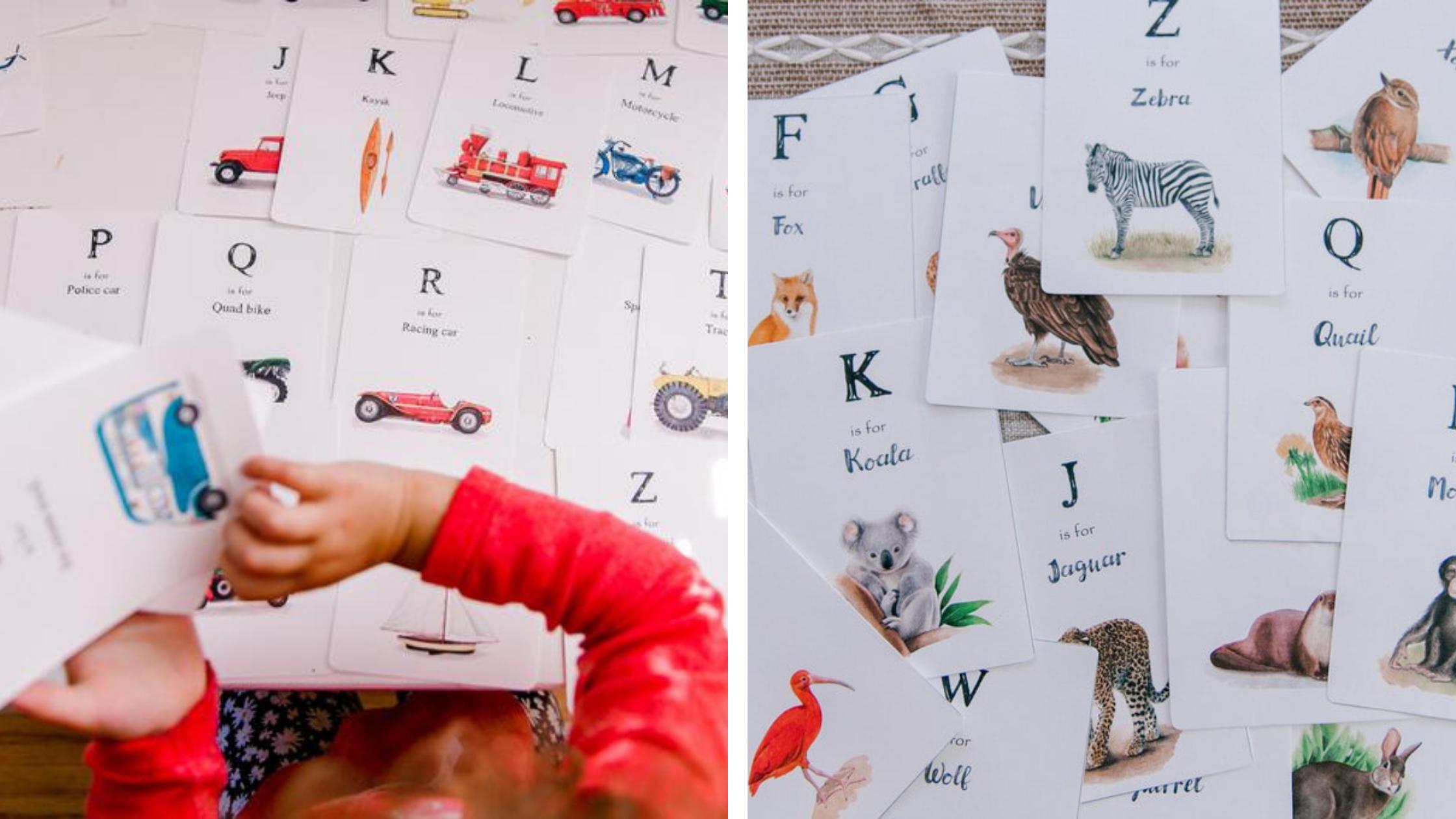 homeschool alphabet cards