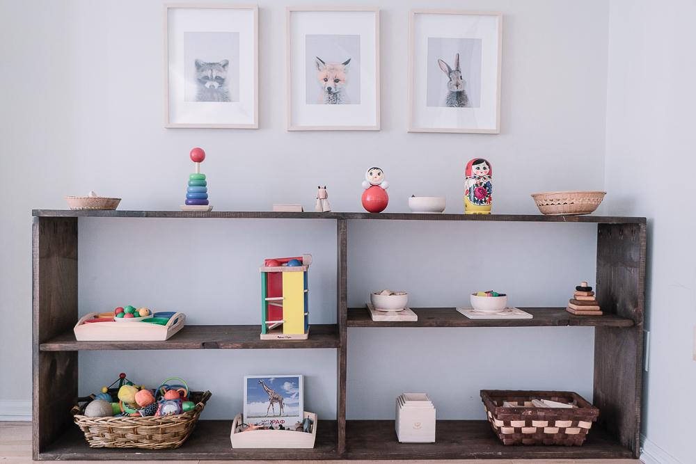 montessori organization shelf