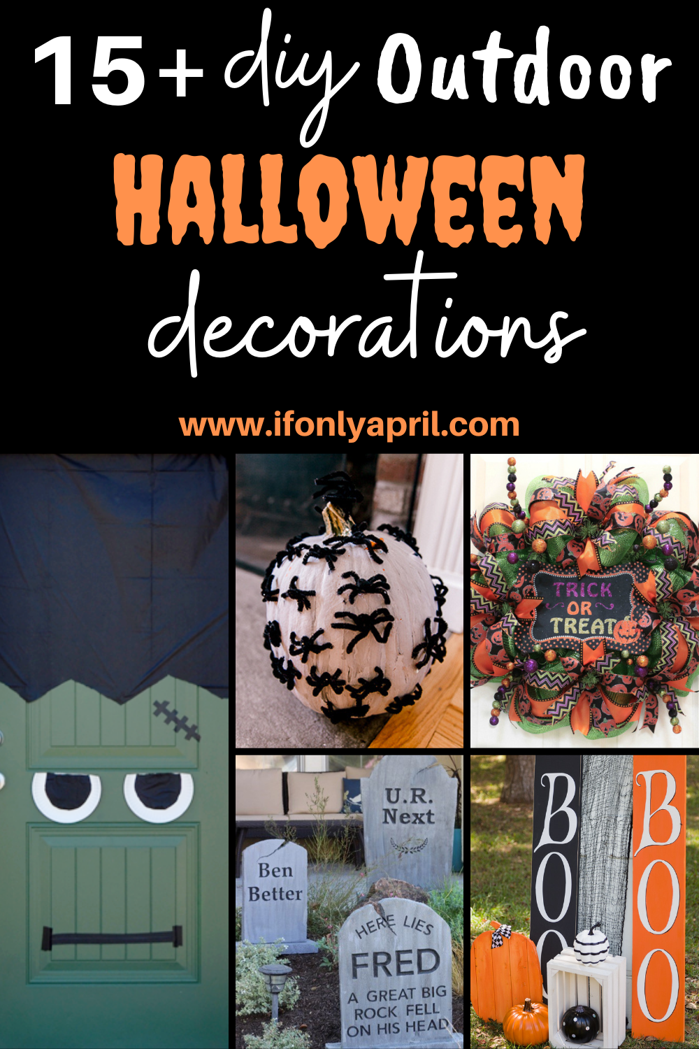 15+ diy outdoor halloween decorations