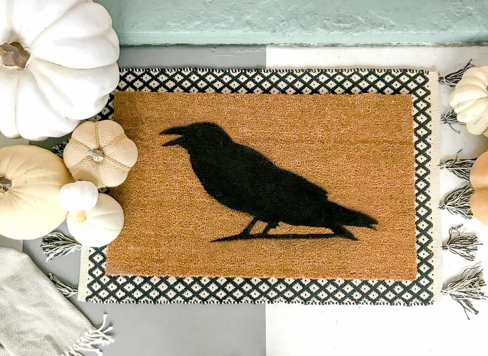 Halloween diy door mat