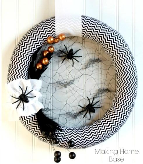 Spider diy wreath