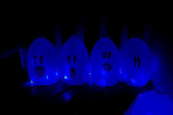 Spooky DIY Milk Jars