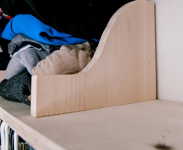 diy wooden shelf dividers