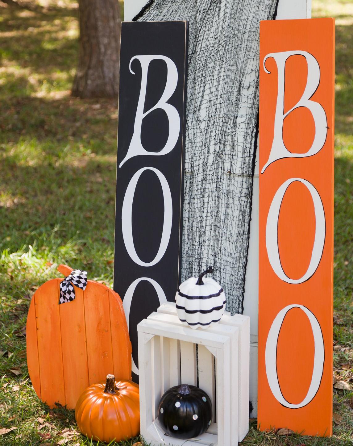 easy diy porch halloween signs