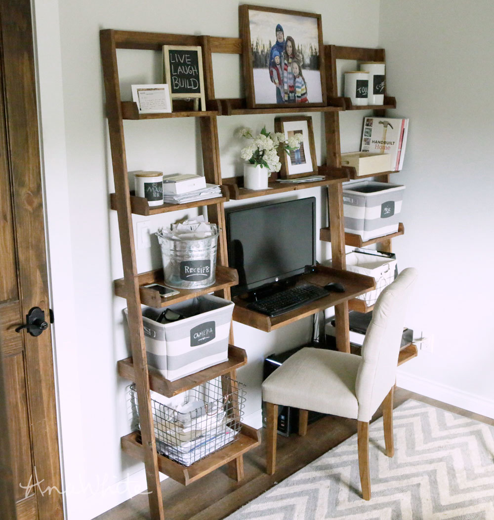 ladder wall bookshelf