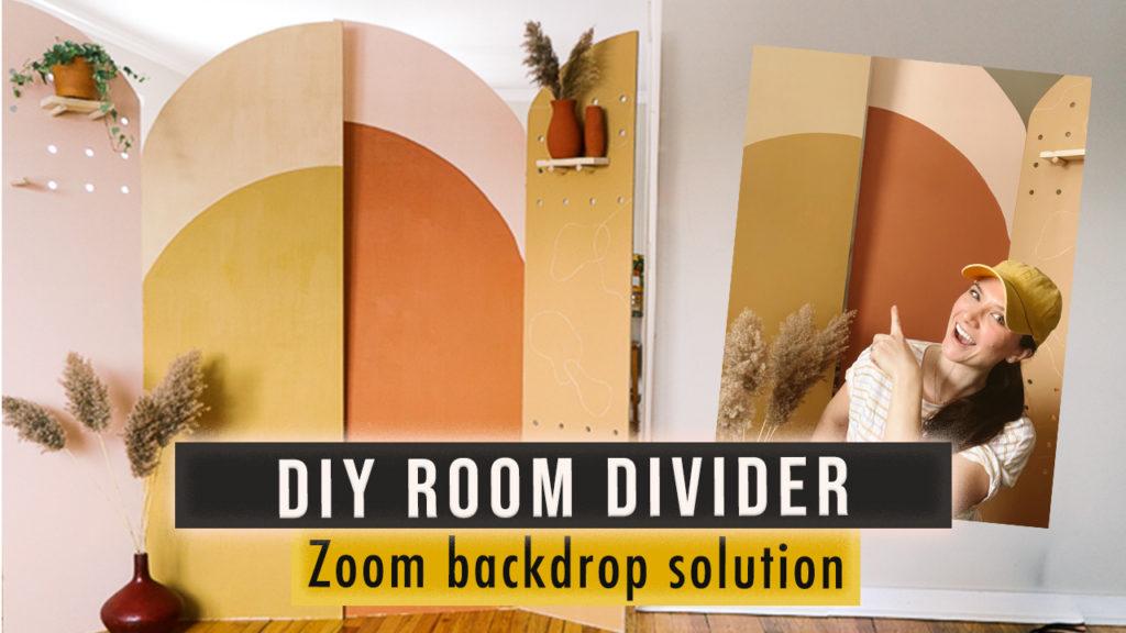 DIY wooden bohemian room divider