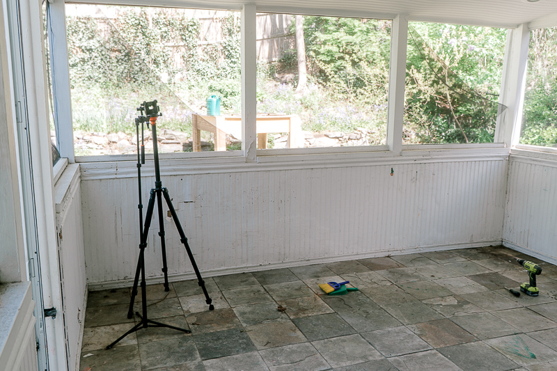 screened-in porch makeover